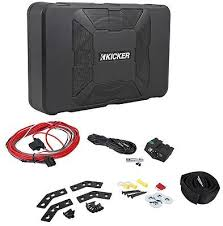 "kicker 11hs8 8 hideaway powered 150 watt subwoofer enclosure sub kicker 11hs8 8"" 150 watt hideaway compact car audio powered subwoofer sub hs8"