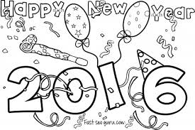 Small Picture Happy new year 2016 coloring pages for kids Printable Coloring