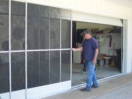 sliding garage doorsPatio Doors Sliding Garage Door Screens From Killians Of Palm
