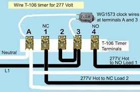 how to wire t106 timer T104 Timer Wiring Diagram t 106 timer 277 volts intermatic timer t104 wiring diagram