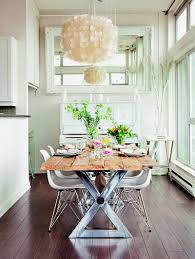 Dinning Rooms:Vintage Shabby Chic Dining Table With Vintage Dining Chairs  And White Dining Table