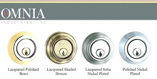 Door Knob Colors Hardware Finishes By Manufacture Different