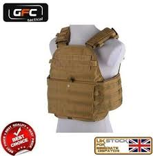 <b>military tactical 6094</b> molle plate carrier assault <b>vest</b> coyote gft-18 ...