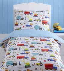 bright trucks baby boy kids toddler junior cot bed duvet junior toddler duvet cover sets