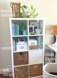 organizing your home office with the ikea kallax shelf via style in simplicity awesome home office ideas ikea 3