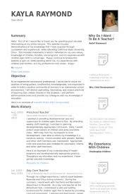 preschool teacher resume samples visualcv resume samples database .