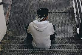 sad boy on stairs breakup wallpapers for free in hd 4k quality