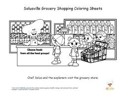 Small Picture Chef Solus Grocery Store Fun Coloring Sheet