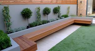 Small Picture modern garden designer london artificial grass hardwood seat