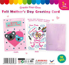 Mothers Greeting Card Felt Mothers Day Greeting Card Pack Of 10