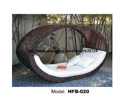 bird s nest design creative rattan sofa bed leisure lying lounge chair garden beach swimming pool chair bed sofa furniture in rattan wicker sofas from