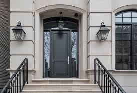 transitional gany front door with espresso finish u2016 n burling st chicagocustom front door by glenview haus