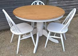 beautiful round oak dining table farrow ball all white free delivery