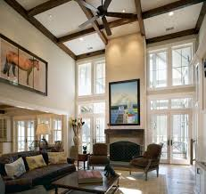 Decorating Idea For Living Rooms With High Ceilings