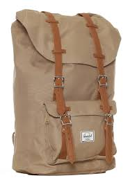 herschel little america brindle tan synthetic leather backpack streetwear impericon com au