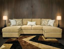 sectional sofa with double chaise. Exellent Chaise Amusing Double Chaise Sectional Sofa 22 On Black Fabric Sofas  With And With U