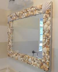 mirror bathroom espejo de mar manualidades pinterest shell newspaper and