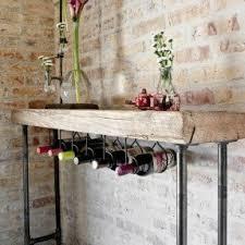 Rustic Wine Rack Table Console Table Wine Rack 10 Rustic Nongzico