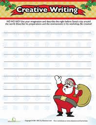 christmas the holiday season third grade composition worksheets christmas descriptive writing