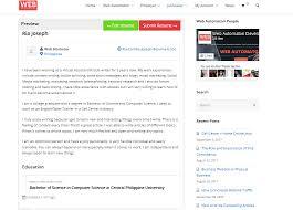 Tutorial How To Submit New Resume Web Automaton