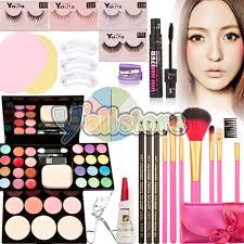 makeup palette kits gift set eyeshadow foundation powder blusher lip gloss brush