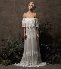 juniper bohemian lace wedding dress dreamers and lovers