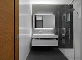 Minimalist Bathroom For Small Space Design Ideas Wall Mount Sink Glass  Shower Door Vanity Accent Lighting