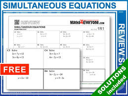 simultaneous equations gcse 9 1 summary by maths4everyone teaching resources tes