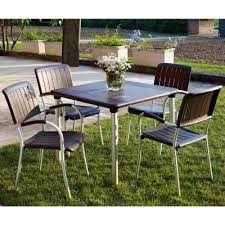 5 piece outdoor dining set. Musa Square Outdoor Dining Set 5 Piece Espresso