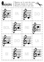 Petit D Coupage De Notes De Musique Et Exercice D Criture Du Nom