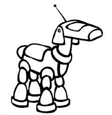 Small Picture Printable Robot Dog Coloring Pages Cartoon Download For Free
