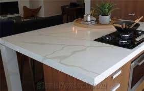 bst white veined collection quartz stone kitchen countertop with non porous surface stain resistance and easy scratch removal