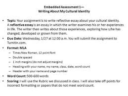 unit embedded assessment writing a cultural narrative ppt embedded assessment 1 writing about my cultural identity topic your assignment is to write
