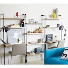 cb2 helix white oak 70 wall mounted bookcase 149 00