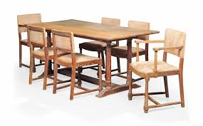 A Heals Limed Oak Dining Table And Chairs Circa 1930s Christies