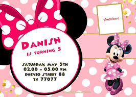 Free Minnie Mouse Birthday Invitations Unique Pictures Of Minnie Mouse Free Invitation Template