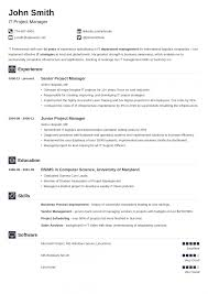 Pdf Resume Builder Template Download Professional Cv Template Free Standard