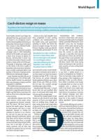 should brain drain be banned human capital flight east czech doctors resign en masse thelancet com vol 377 8