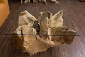 Couchtisch aus mahagoni holz 100x60 eva. Baumwurzel Couchtisch Aus Suar Holz Mit Glasplatte Quadratisch Nr 18222
