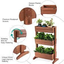 3 tier raised garden bed vertical