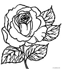 bold and modern printable rose coloring pages page for s roses