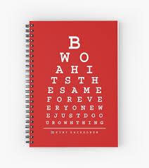 Kimi Raikkonen Quotes Eye Chart Light Spiral Notebook By Edwarddunning