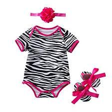 <b>3pcs Newborn Baby</b> Girl Floral Romper Bodysuit+Headband+Shoes ...