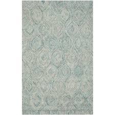 safavieh ikat ivory sea blue 4 ft x 6 ft area rug