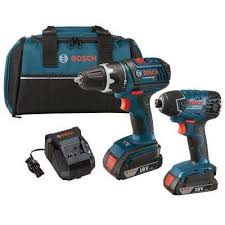 bosch drill electric. 18 volt lithium-ion cordless drill/driver and impact driver combo kit with 2.0 bosch drill electric