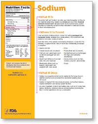 Sodium In Vegetables Chart Nutrition Facts Label Sodium