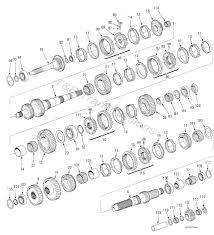 Nv5600 6 speed transmission gear train diagram