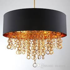 modern chandeliers with black drum