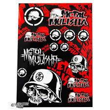 4mx metal mulisha logo sticker sheet stickervel planche de stickers aufkleberbogen