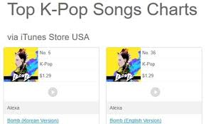 Alexa Makes Debut On Itunes Top K Pop Songs Charts With High